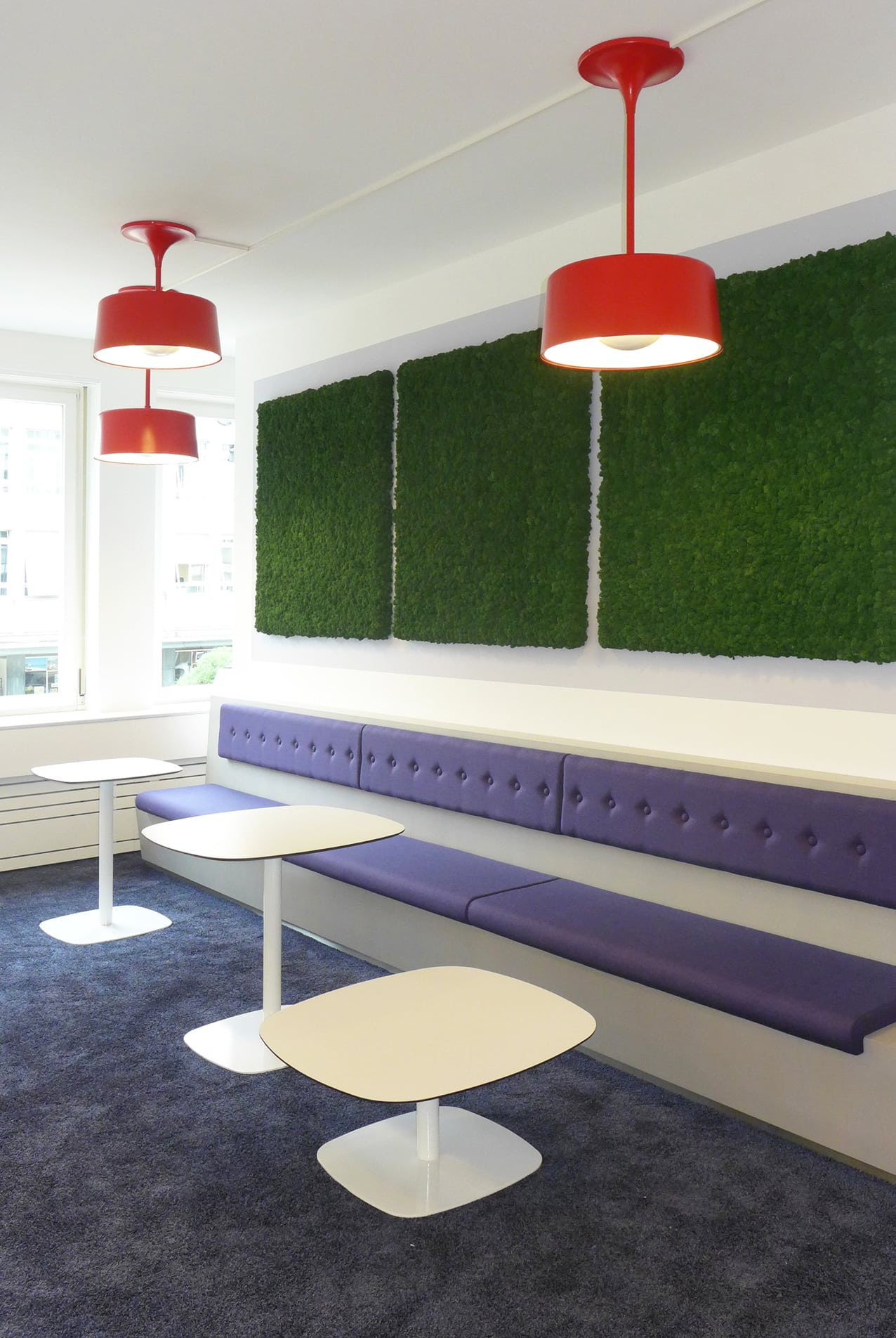 Booking.com, Zurich - seating area