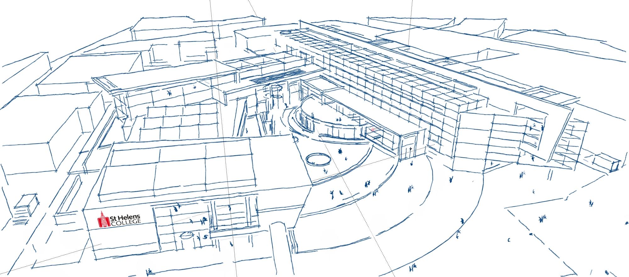 St Helen's College sketch