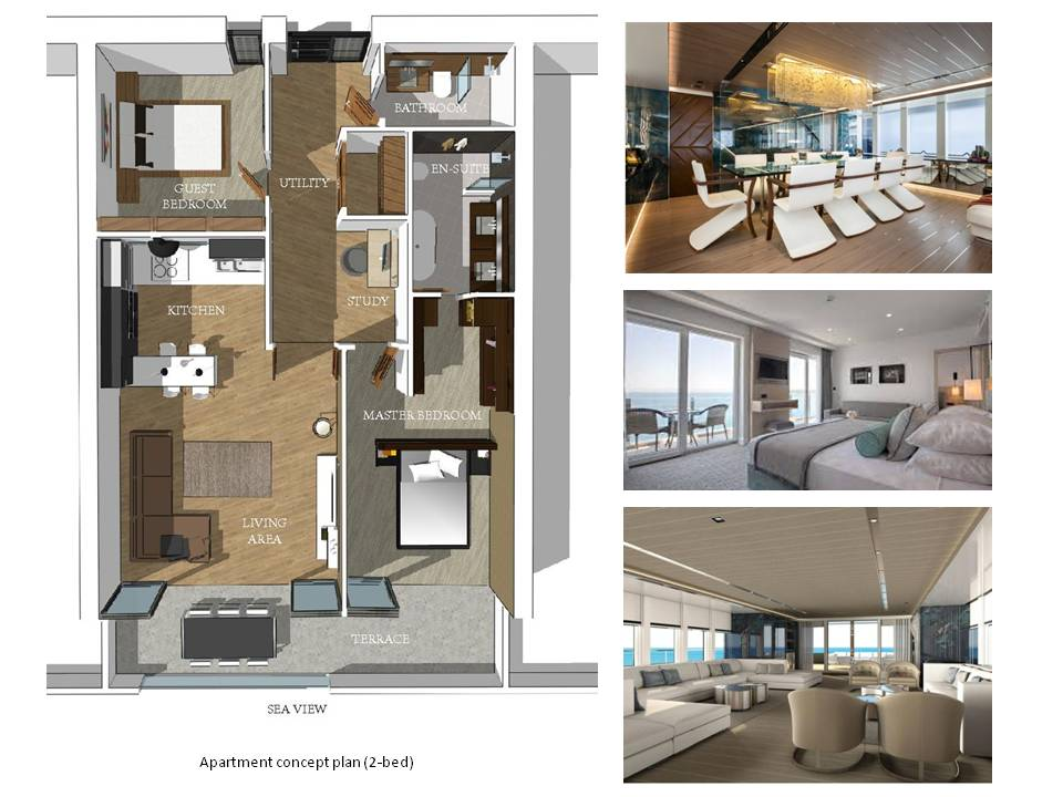 Apartment Concept Plan. Plymouth Hotel