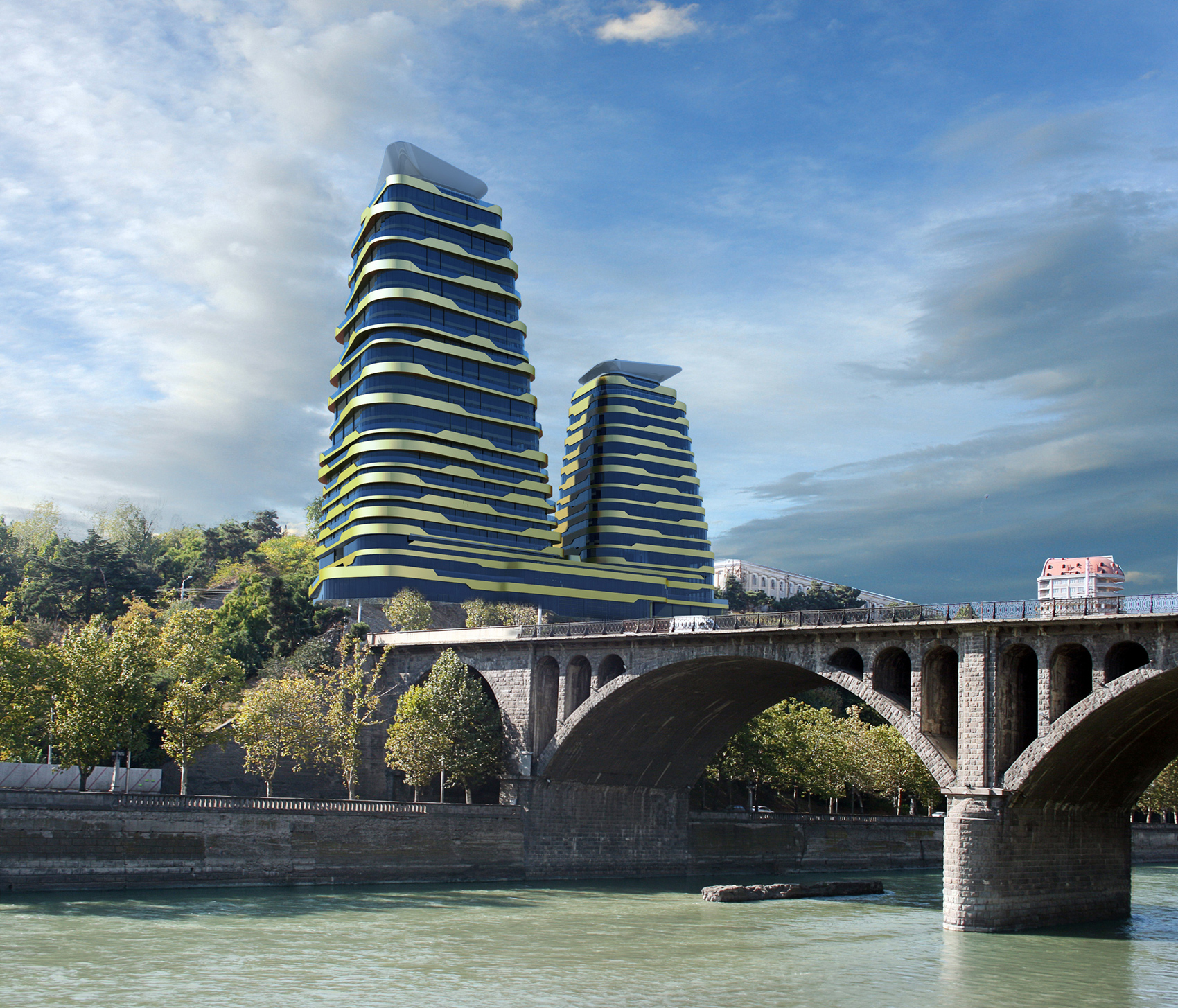 Berbuck Towers, Tbilisi River View