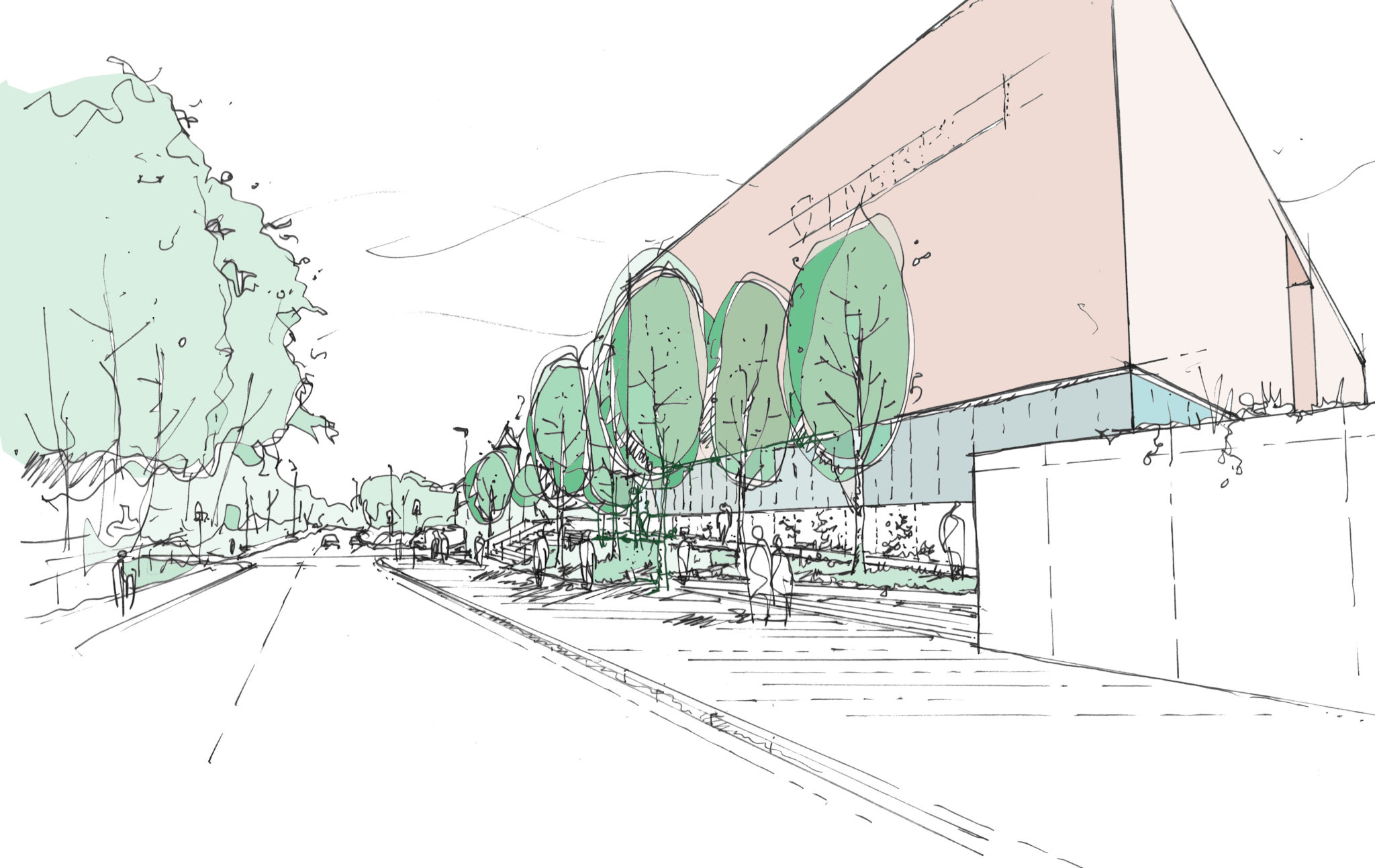 University of Liverpool Arts & Humanities Centre - Oxford Street sketch