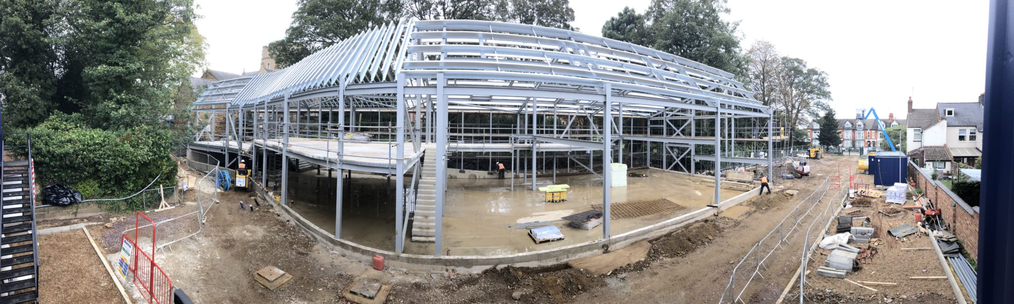 Northampton Cathedral New Cathedral Centre steel framework