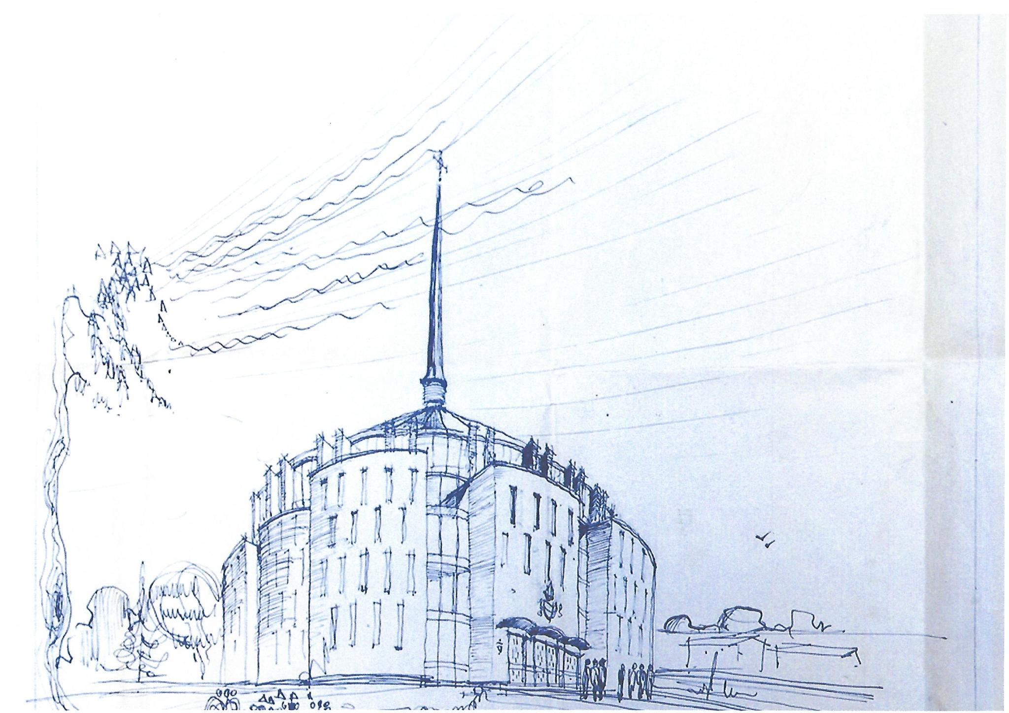 Roman Catholic Church of St Mary, sketch